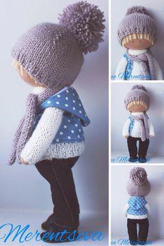 Doll boy Tilda doll Fabric doll Rag doll Handmade doll Textile doll Blue doll Cloth doll Interior doll Nursery doll Soft doll by Elena M