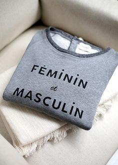 Sézane / Morgane Sézalory - Masculin/Féminin sweatshirt #sezane #masculinféminin