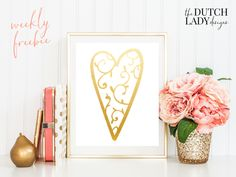 Free golden valentine heart clipart set - download here: http://www.thedutchladydesigns.com/2016/01/free-valentine-clipart.html