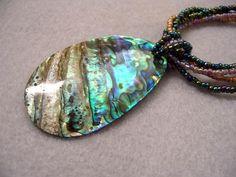 Paua Shell Necklace provided by Bead Jewelry By Anita Kansas 61933
