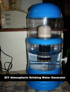 The humidity in a home is a great source of water to have for drinking. An atmospheric drinking water generator can be made to harvest this water to drink.