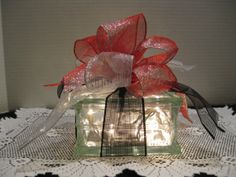 Black Silver and Red Sparkle Ribbon on clear by Originalsbysuej, $20.00