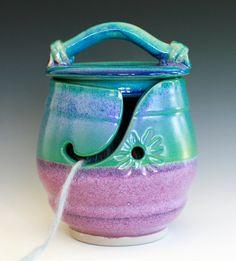 Kitty-Proof Yarn Bowl -- handmade ceramic yarn bowl, In stock Ready to Ship. $60.00, via Etsy.   WANT
