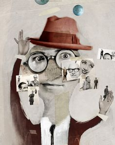People by Antonello Silverini Create Collage, Mixed Media Collage, Collage Art, Collages, Photocollage, Amazing Paintings, Retro Illustration, Whimsical Art, Altered Art
