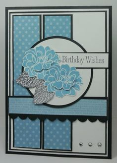 """By Narelle Farrugia. Uses Stampin' Up """"Fabulous Florets"""" stamp set."""