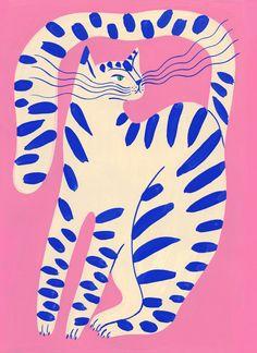Agathe Singer. Art And Illustration, Illustration Design Graphique, Pattern Illustrations, Illustration Animals, Graphic Illustrations, Posca Art, Plakat Design, Cat Art, Collage Art