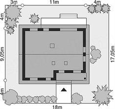 Projekt Dom przy Bukowej 18 65 m2 - koszt budowy - EXTRADOM Floor Plans, Floor Plan Drawing, House Floor Plans
