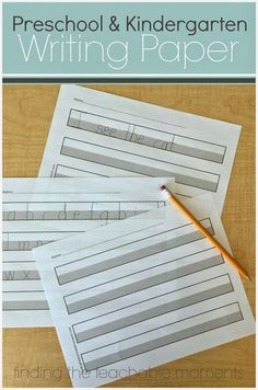 FREE printable handwriting paper - The gray area provides a visual cue to help with letter sizing and correct letter formation.