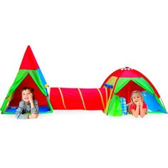 GigaTent Action Dome u0026Tepee w/Tunnel Play Tent Set Deluxe Fun Xmas Gift For Kids  sc 1 st  Pinterest & Discovery Kids Adventure Play Tent | Overstock™ Shopping - Big ...