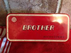 1959 Vintage Brother Sewing Machine supply by Silverslipperofamoon