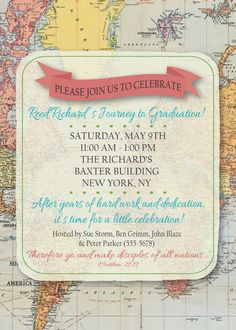 Map Invitation 10/pk by KwikKopyshop on Etsy