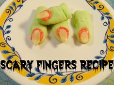 Scary Fingers Recipe cookies are a super easy recipe to cook up in time for Halloween parties! The take just a few ingredients and are so quick to cook!