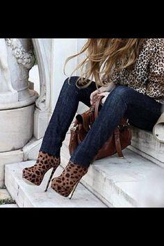 amazing leopard print shoes