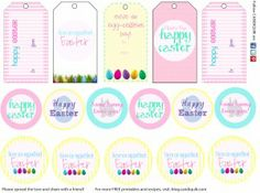 {Free} Easter Printables - these are awesome on cupcake toppers, cake pops, gift baskets, etc.