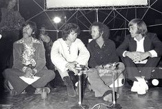 John Densmore, Jim Morrison, Robby Krieger and Ray Manzarek of The Doors in London for 'Top of the Pops', 1968