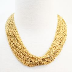 Gold Stacked Necklace