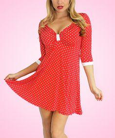 Red Polka Dot Betty Dress - Plus Too