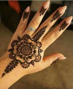 Explore latest Mehndi Designs images in 2019 on Happy Shappy. Mehendi design is also known as the heena design or henna patterns worldwide. We are here with the best mehndi designs images from worldwide. Henna Hand Designs, Eid Mehndi Designs, Small Henna Designs, Henna Flower Designs, Mehndi Designs For Girls, Beautiful Henna Designs, Latest Mehndi Designs, Henna Tattoo Designs, Henna Flowers