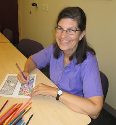 Stress Free Coloring time in the Library!