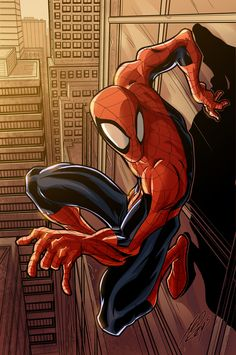 Spiderman~ My Marvel Favorite (sorry Xmen) by ~tedkeys on deviantART Comic Book Characters, Comic Book Heroes, Marvel Characters, Comic Character, Comic Books Art, Comic Art, Book Art, Marvel Comics, Marvel Vs