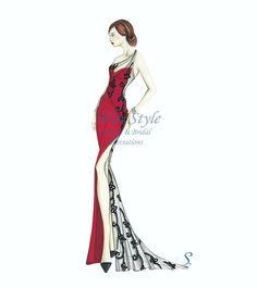 Papavero - Fashion Illustration, fashion illustrator by @MissStyleCreazioni ♥ ♥ ♥ ♥ ♥ ♥ www.etsy.com/shop/MissStyleCreazioni ♥ ♥ ♥ ♥ ♥ ♥