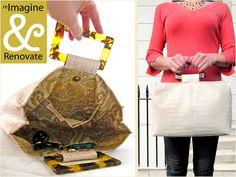 Re-imagine & Renovate: Faux Leather White Alligator Handbag   Sew4Home