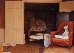 Photo by David Dawson in Lucian Freud's Studio