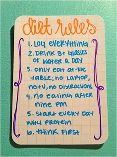 easy diet rules i could actually follow, except the 9pm. average nights have me up past 1 am...
