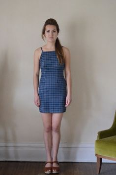90's blue dress by itsyourchoiceVintage on Etsy