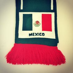 #Mexico #Scarf #Football #mexicana #mexicano #scarves #FIFA #WorldCup #soccer #fashion #style #futbol #red #green #WorldCup2014 #fan #fun