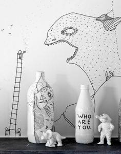 Shantell Martin's Illustrated Apartment in Brooklyn