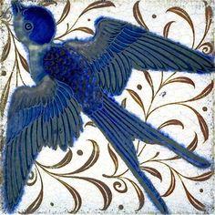 william de morgan art | Swallow - William de Morgan
