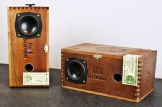 Cigar Box Desktop Speakers