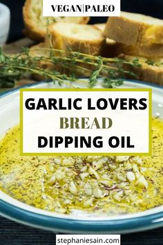 This Garlic lovers bread dipping oil is super easy to make and great served with crusty bread top it on pizza and so much more. Sauce Recipes, Cooking Recipes, Healthy Recipes, Healthy Dips, Dip Recipes, Olives, Appetizer Recipes, Dinner Recipes, Appetizers