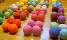 DIY dryer balls - cut down on drying time. They're softer and thus quieter than tennis balls, and they are naturally antibacterial, and when doused with a bit of essential oil, a near perfect substitute for disposable dryer sheets. Natural, energy-efficient, and sweet smelling.