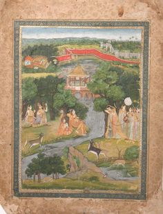 Princess Nurjahan and Attendants First Battle Of Panipat, Mughal Empire, Countries Of The World, Islamic Art, Indian Art, Royalty, Miniatures, Princess, Calligraphy
