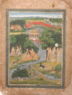 Nur Jahan and Attendants