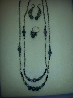 Necklace, earrings and ring
