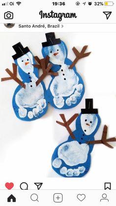 Christmas Crafts for infants Basteln Winter - christmascrafts Kids Crafts, Preschool Christmas Crafts, Daycare Crafts, Winter Crafts For Kids, Snowman Crafts, Baby Crafts, Toddler Crafts, Holiday Crafts, Felt Crafts