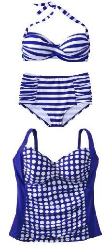 Cute plus size swimwear for $40 or less! #plussize #swimwear #fatkini