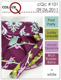 pool party, lucky limeade, orchid opulance, rich razzleberry