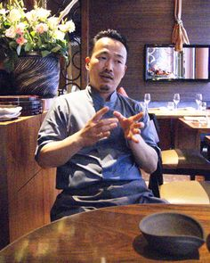 Chef Yoshinori Ishii of UMU Japanese restaurant London http://www.mostlyfood.co.uk/Feature_Japan.htm