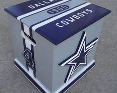 Dallas Cowboys (Inspired) storage box, Cowboys man cave box (in stock, ship within 48 hours) Dallas Cowboys Blanket, Dallas Cowboys Room, Dallas Cowboys Crafts, Dallas Cowboys Pictures, Dallas Cowboys Football, Pittsburgh Steelers, Football Team, Cowboy Theme, Cowboy Party