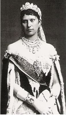 Princess Louise of Sweden, wearing the large diamond tiara of her grandmother, Queen Josephine