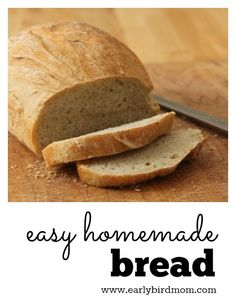 Easy homemade wheat bread. It's so simple that you can have fresh bread for dinner every night! No knead = no fuss. This quick and healthy recipe uses just 4 ingredients (plus water). This recipe is so reliable - it works every time!