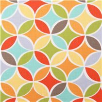 Tile Pile Michael Miller colorful tile circle fabric