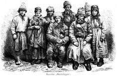 Finnish peasants from the Arctic Circle, photographed around 1871, told tales of the Chuds; in some legends they were dwellers underground, ...