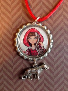 Ever After High Cerise Hood Bottle Cap by PimentosPalette on Etsy, $4.75