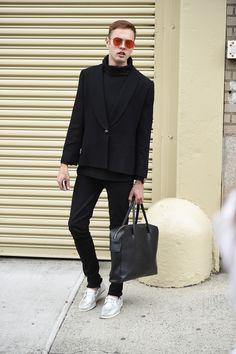 Galeria de Fotos Street style da semana de moda masculina de Nova York Verão…
