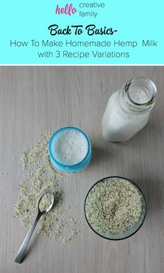 Take clean eating to a whole new level by making your own hemp milk! This dairy free homemade hemp milk recipe takes 60 seconds to make! She also gives 3 variations for flavored nut milk! Why buy it at the store? Healthy Recipes On A Budget, Healthy Meals For Kids, Milk Recipes, Raw Food Recipes, Delicious Recipes, Diy Nut Milk Bag, Cannabis, Hemp Recipe, Hemp Milk